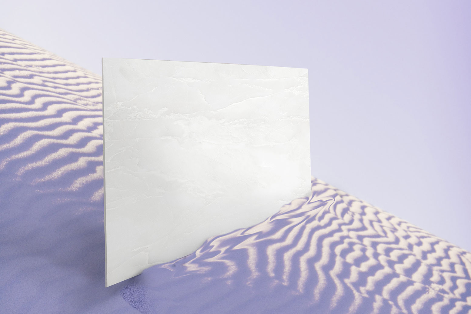 Via Lattea white marble, sintered stone by IDYLIUM Mineral Stone